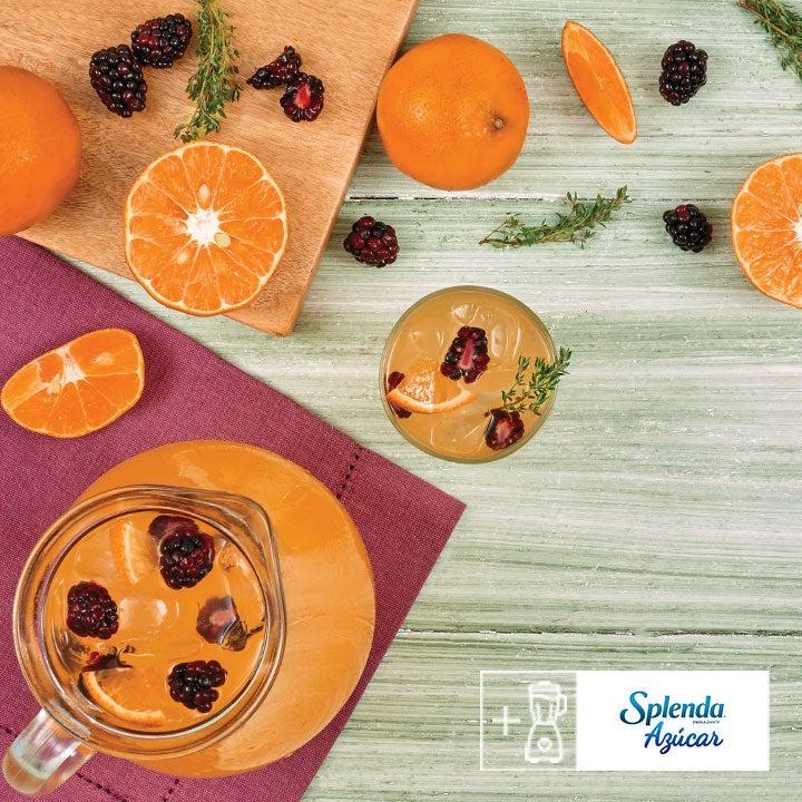 Deliciosa agua de frutas con Splenda