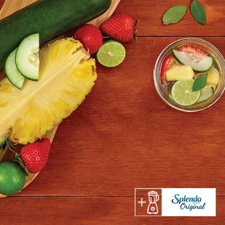 Deliciosa y refrescante agua de frutas