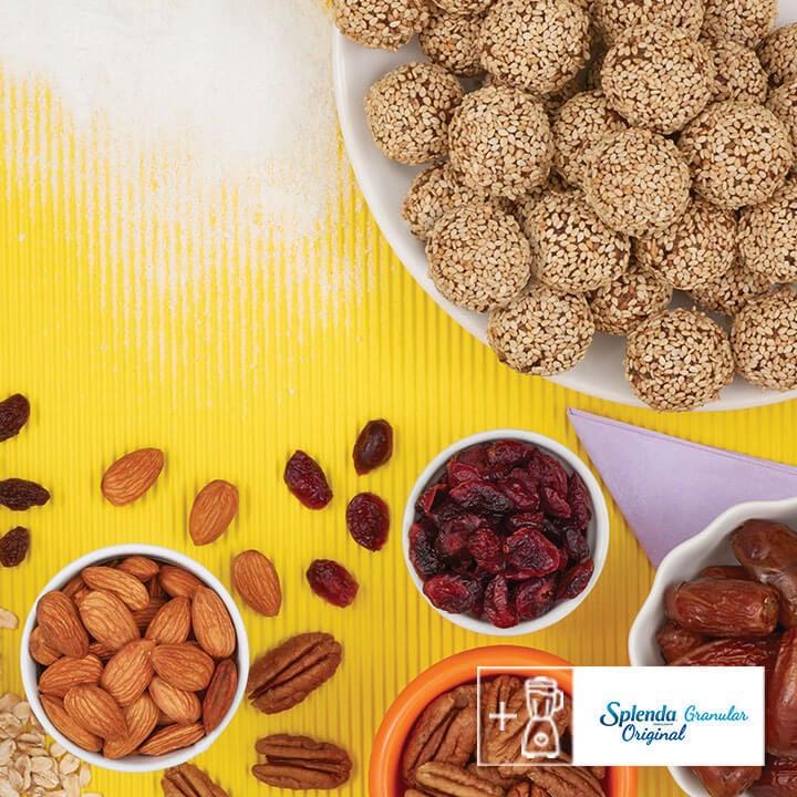 Saludables bolitas de avena y frutos secos