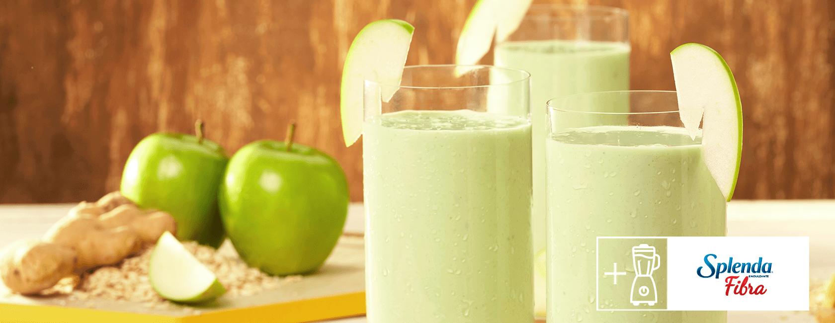 Licuado nutritivo de manzana verde