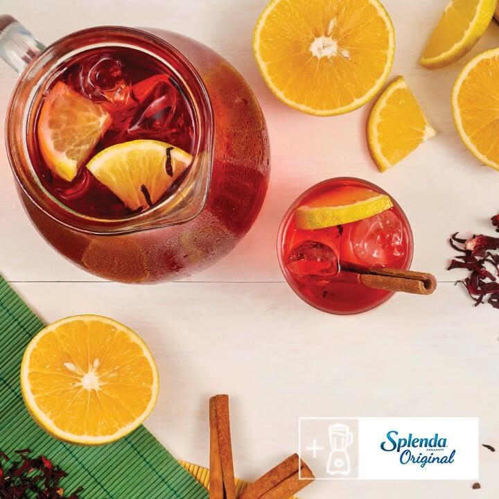 Prepara agua de jamaica con Splenda