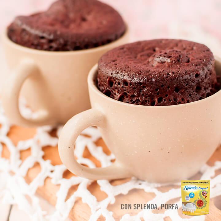 Ricos mug cake de chocolate