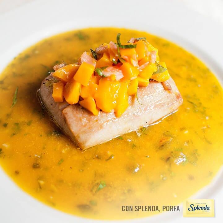 Receta de pescado en salsa de mango